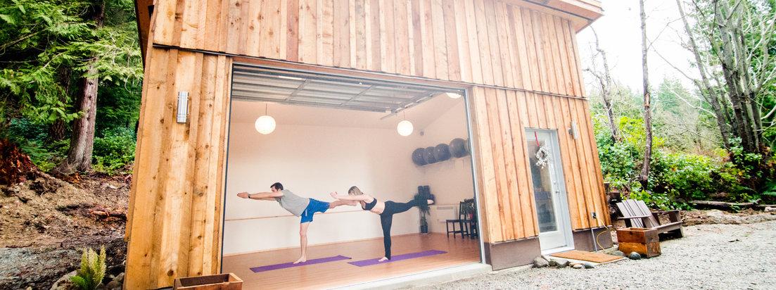 Open concept studio. Tranquil Yoga